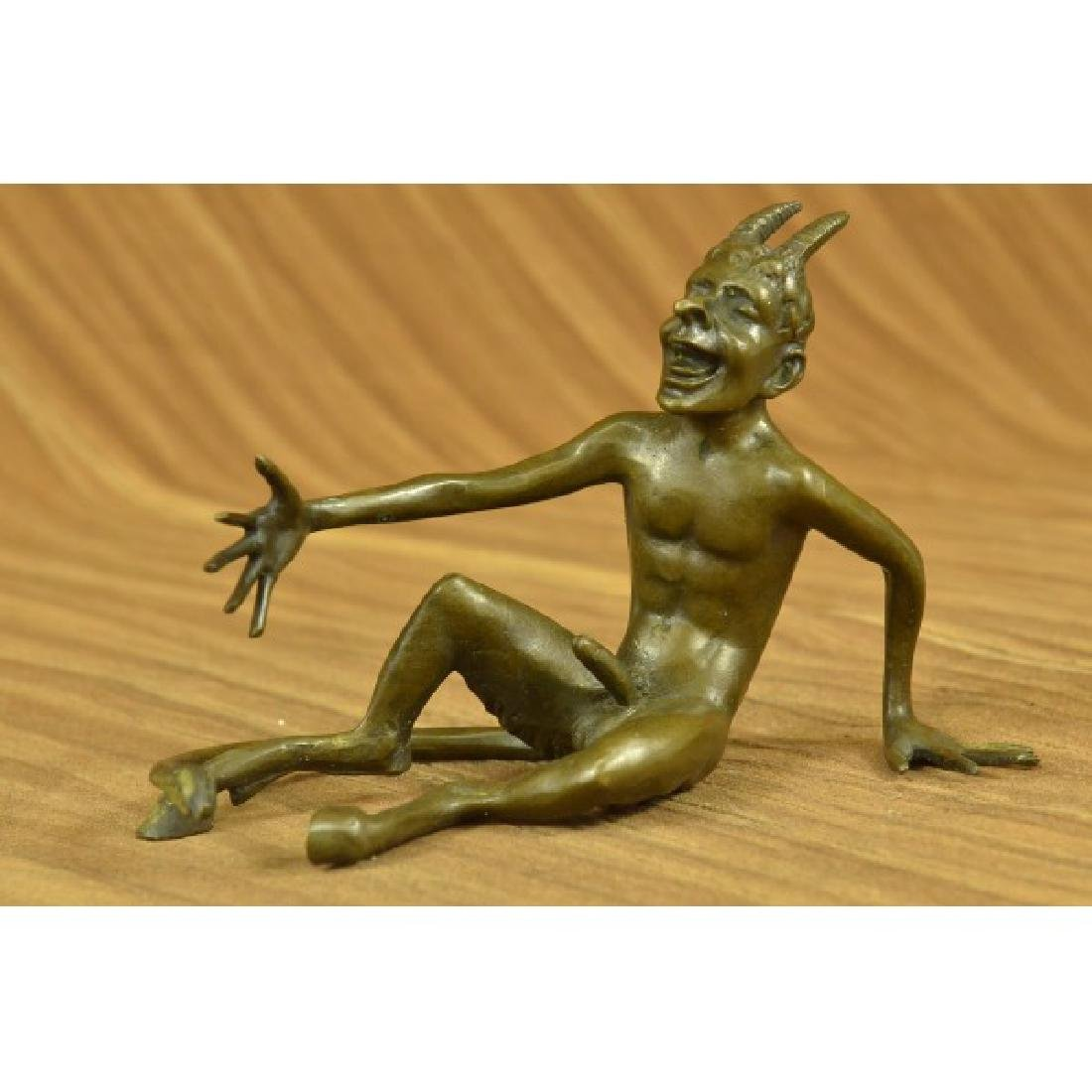 Hot Cast Laughing Satyr Collectible Bronze Sculpture