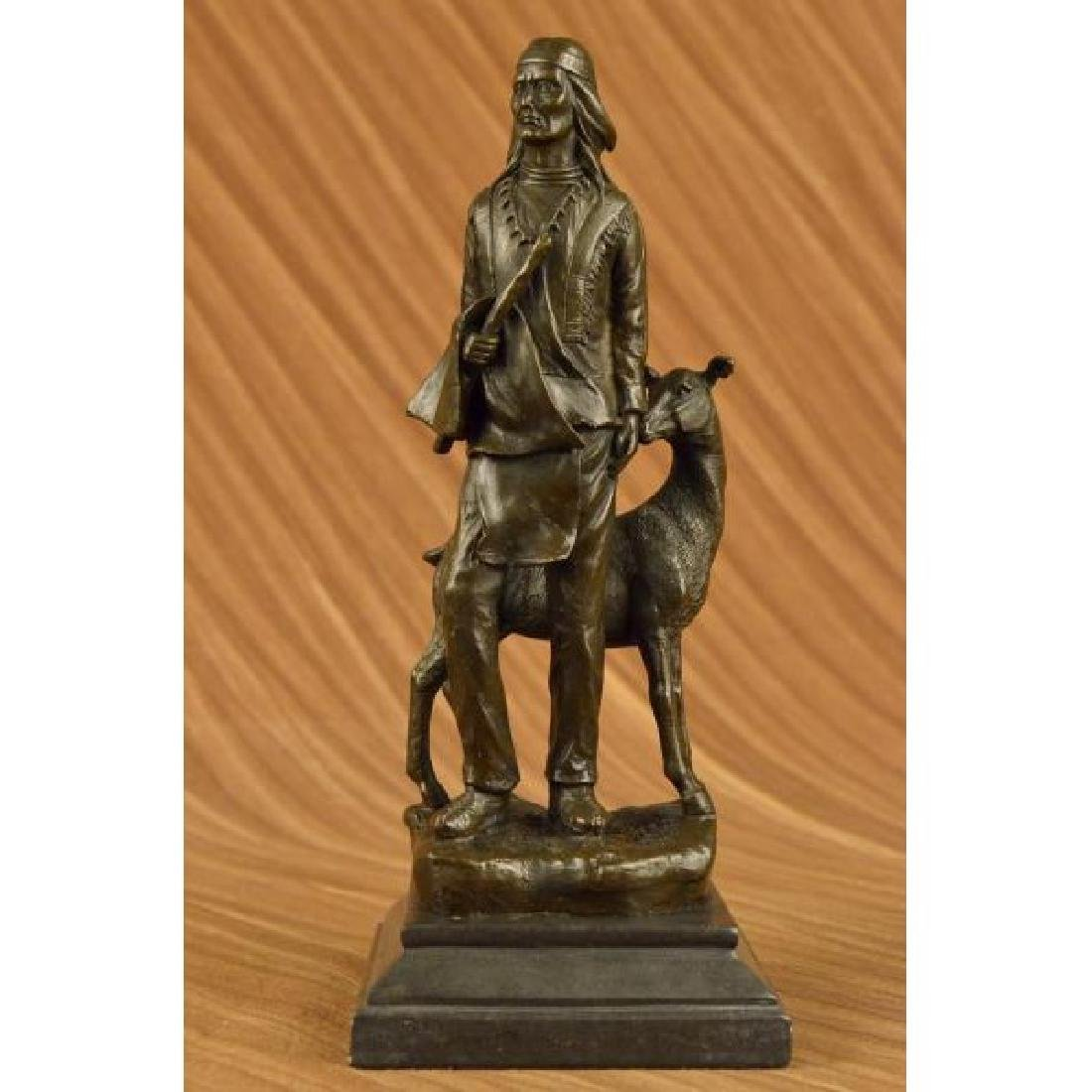 Native American Chief Spiritually Real Bronze Sculpture