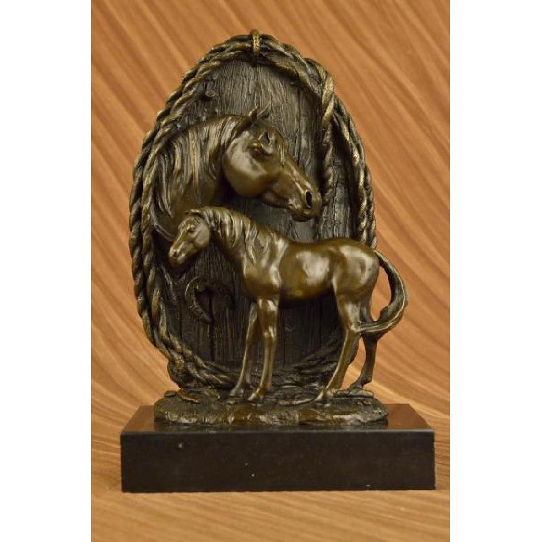 Rare Hot Cast Superb Horse Trophy Bronze Bust Sculpture