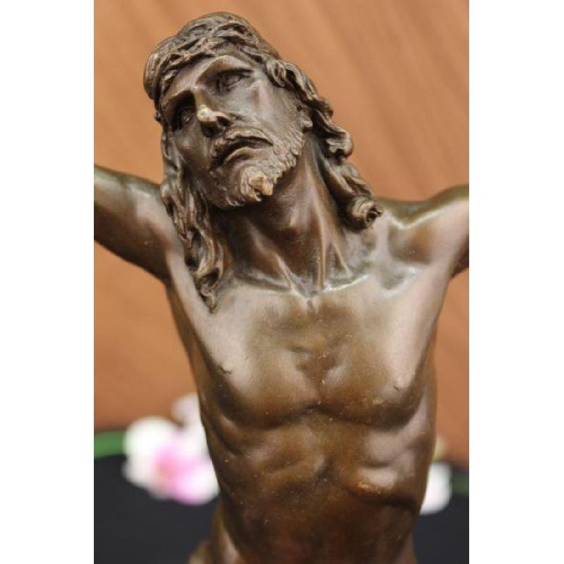 Vintage Real Bronze Arts&Crafts CRUCIFIX gilded