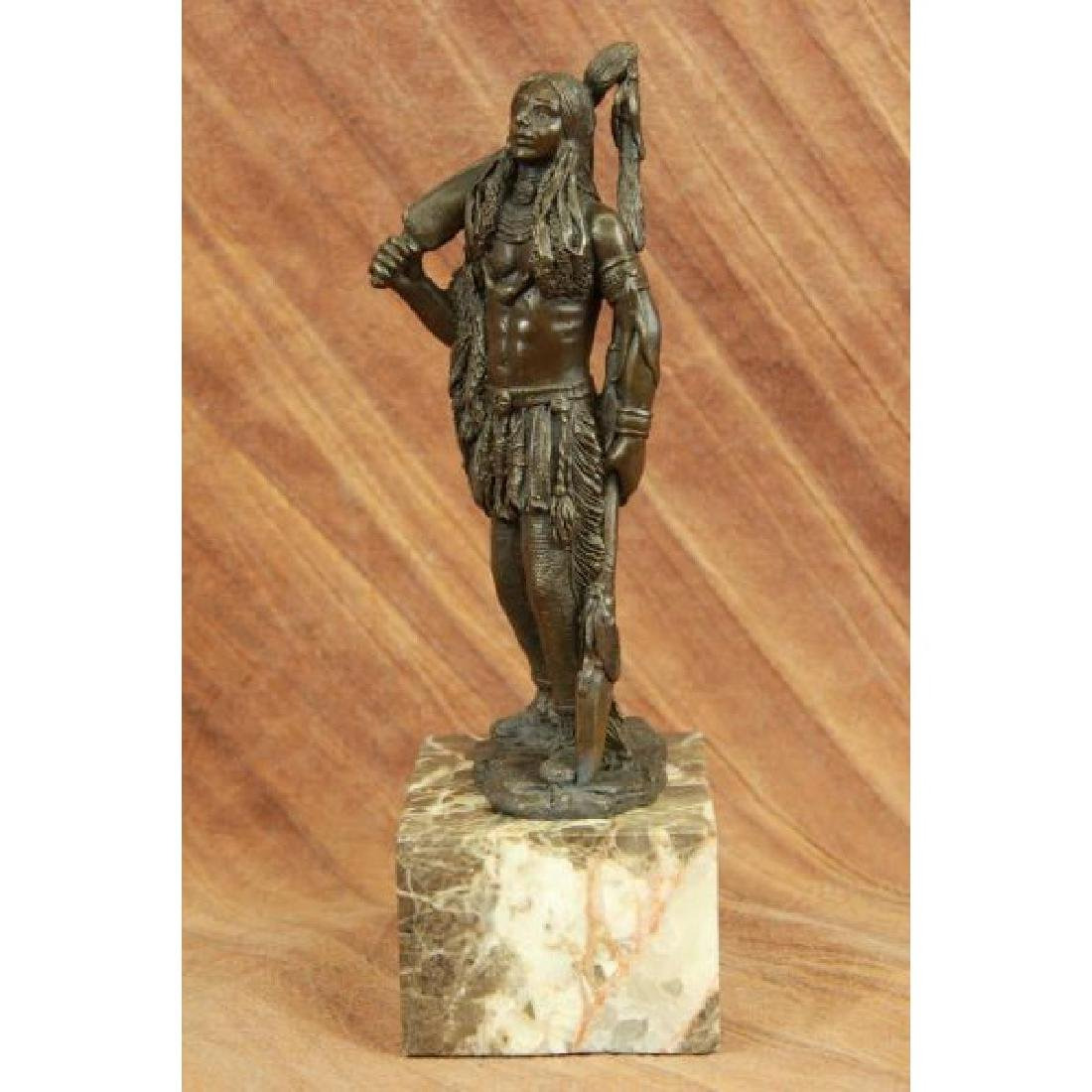 American Warrior By Coypel Bronze Bookend Book End