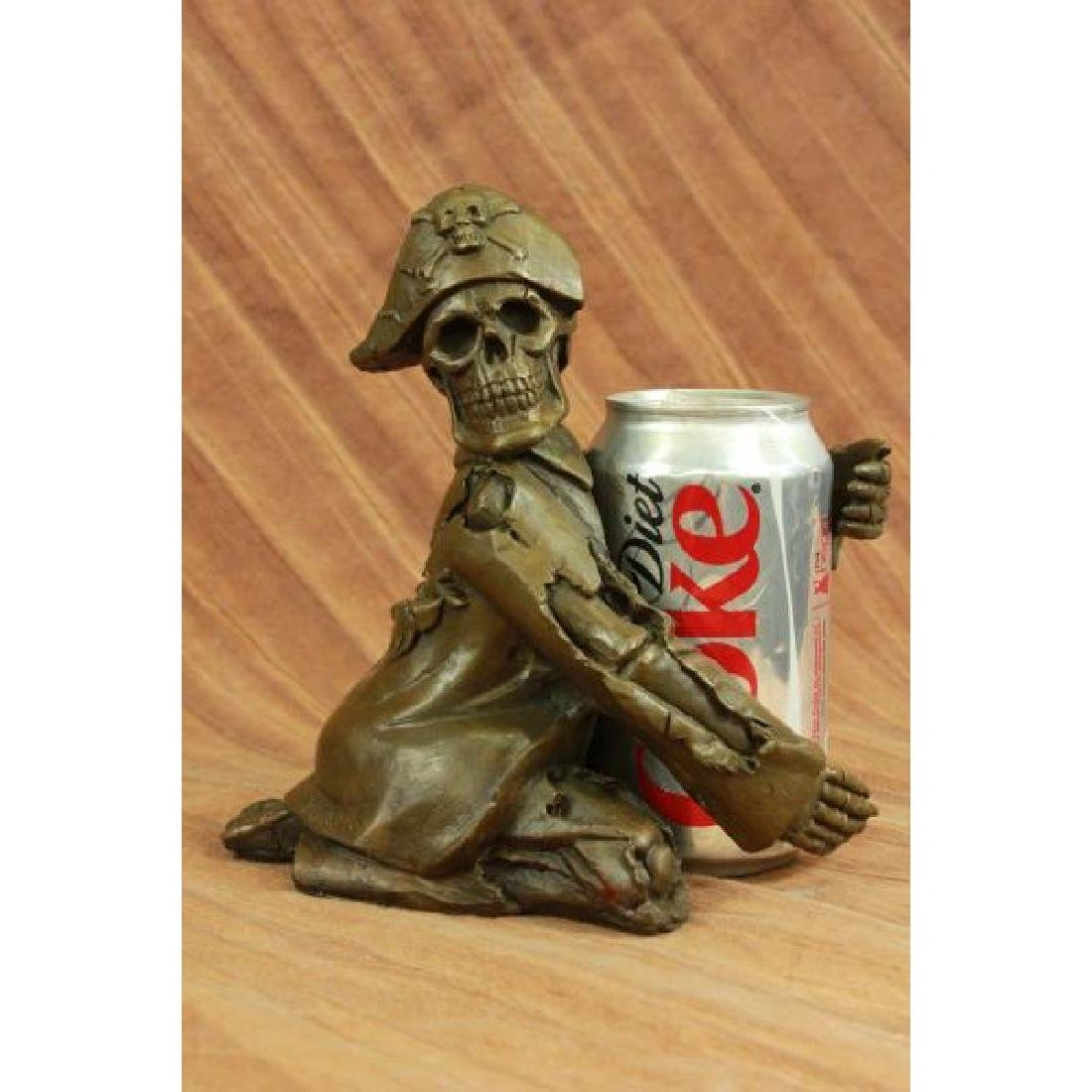 Hot Cast Pirate Skeleton Wine Holder Bronze Sculpture