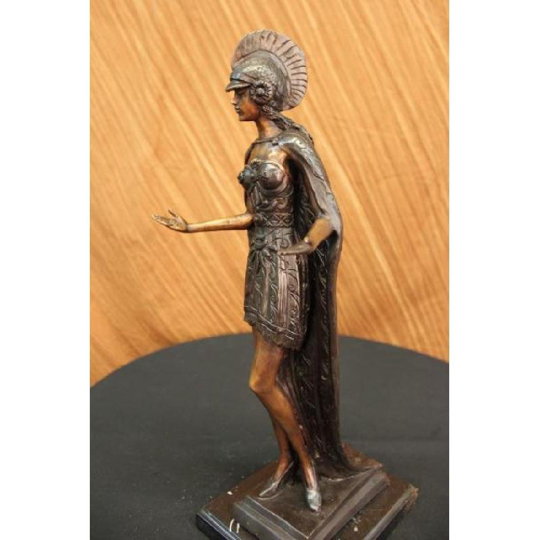 ROMAN WARRIOR COLISEUM GLADIATOR BRONZE SCULPTURE - 5