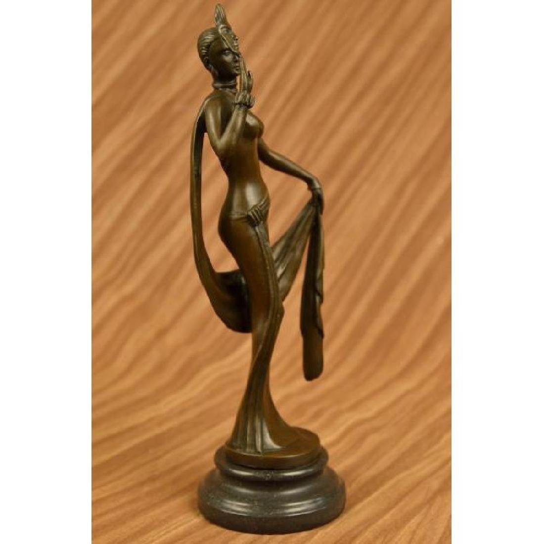 Art Nouveau 1920 Model Bronze Sculpture Hot Cast