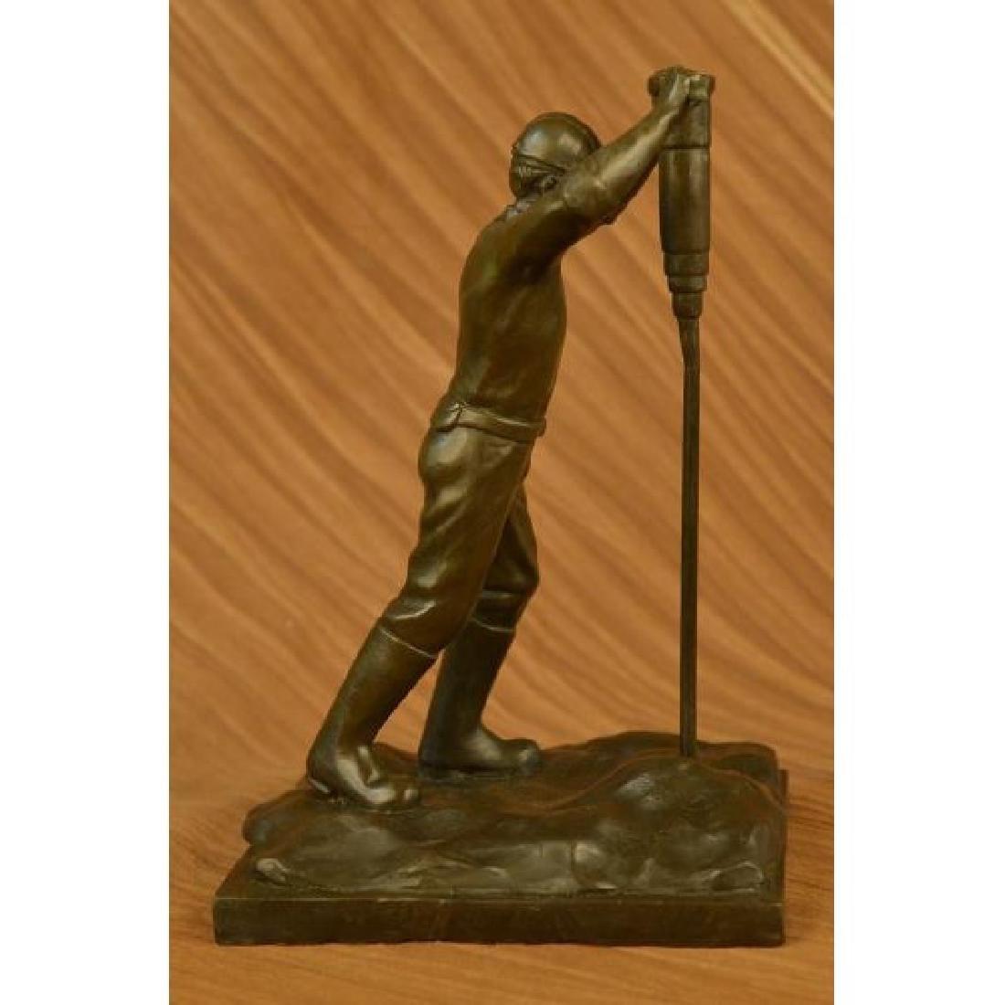 The Roughneck bronze sculpture depicting an oil field