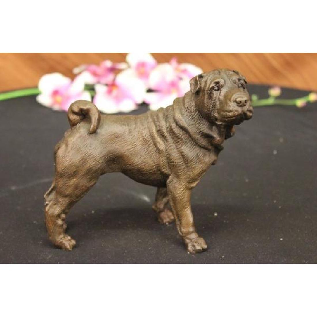 Milo English Bull Dog Bronze Sculpture Animal Pet