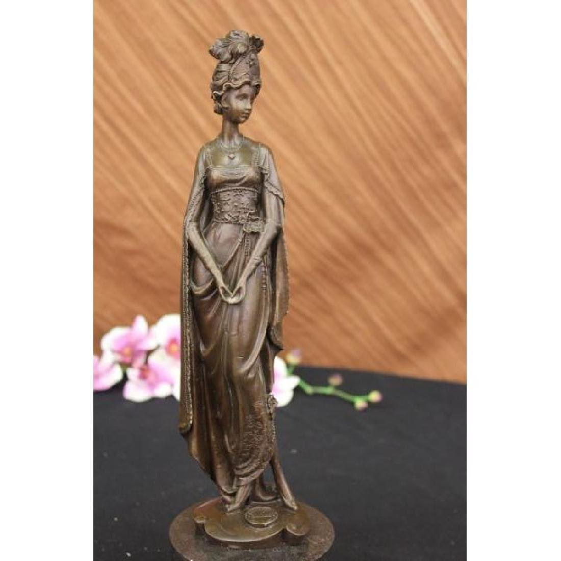 Royal Princess in Garden Bronze Statue Sculpture
