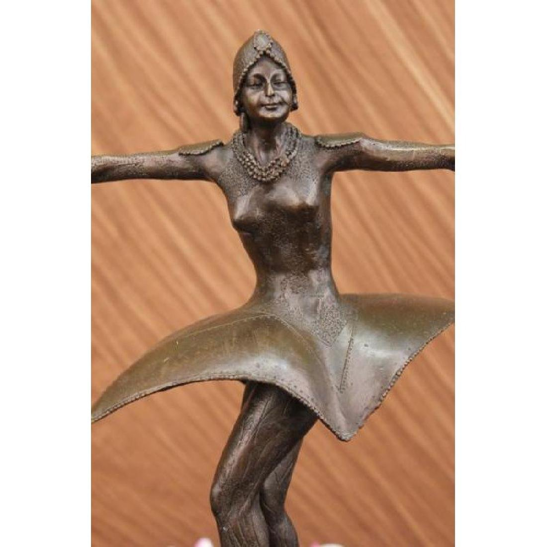 Bronze Sculpture Symmetrical European Dancer Deby