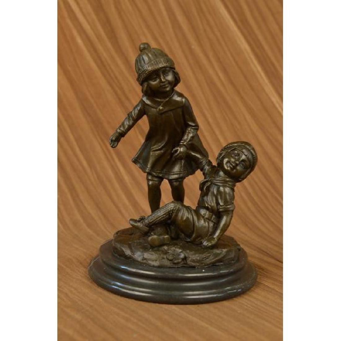 Art Deco European Bronze Children @ Play Bronze