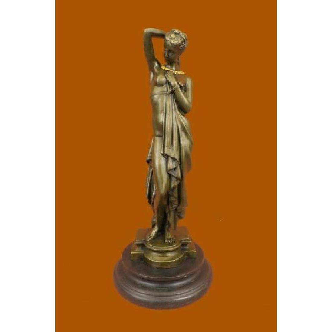 Phryne Model by Swiss Artist Pradier Bronze Sculpture