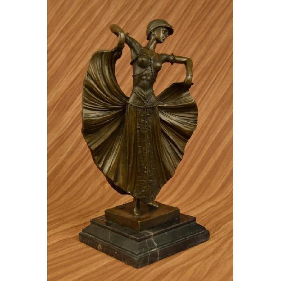 Art Deco Flair Dancer Bronze Sculpture