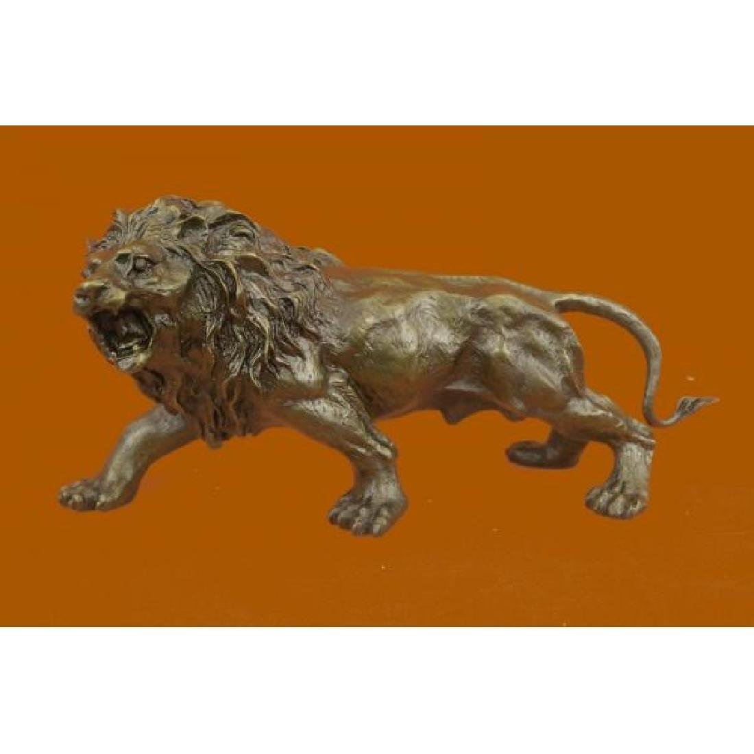 Barye Hot Cast Wildlife African Lion Bronze Sculpture