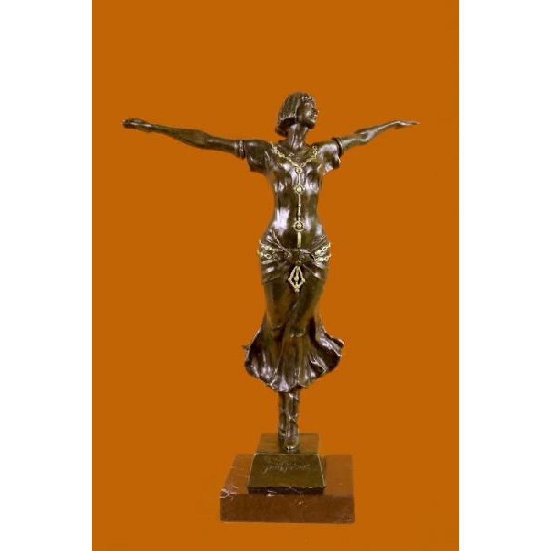 Statue Sculpture Girl Naked Art Deco Style Art Nouveau