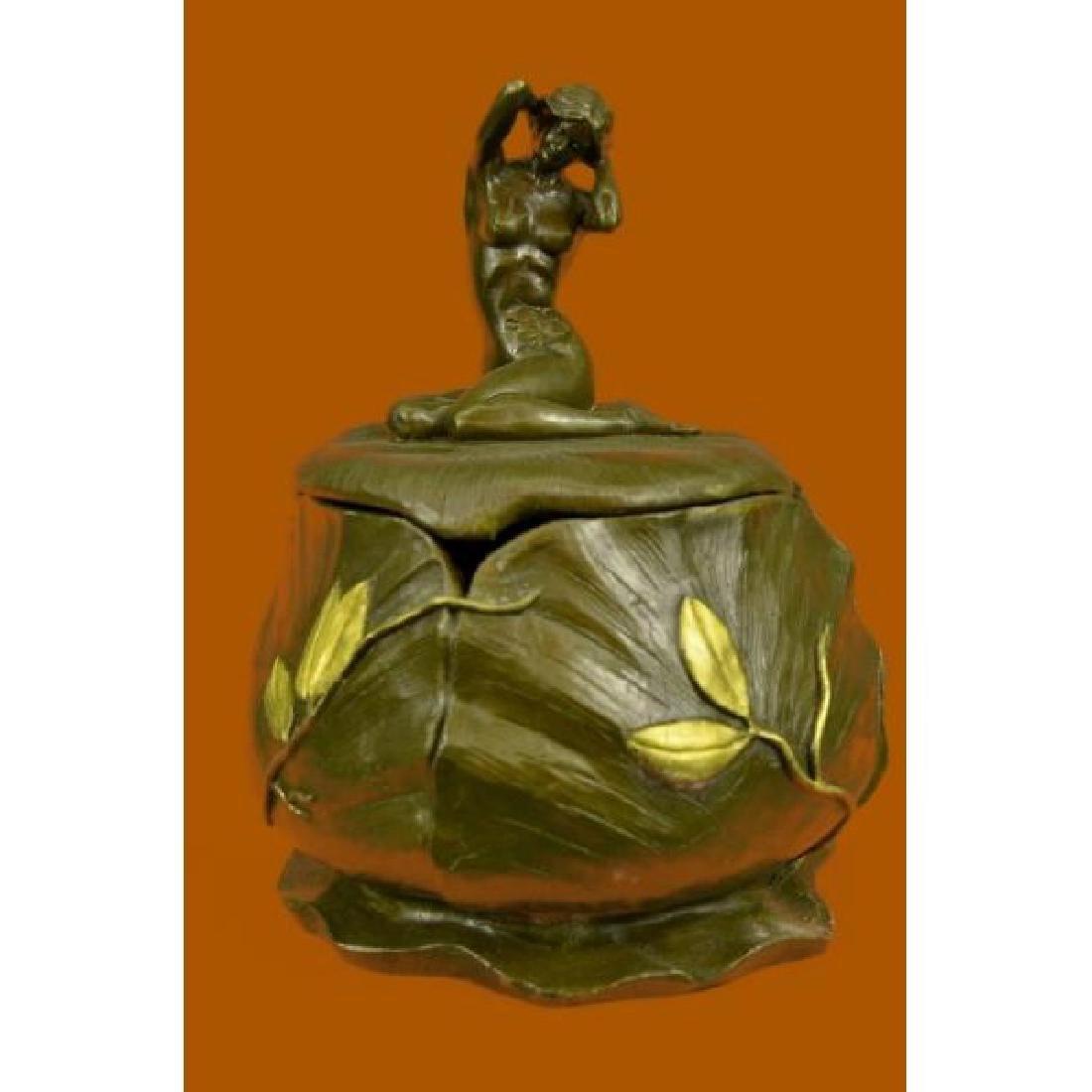 French Jugendstil Art Nouveau Bronze Nude M. Bouval
