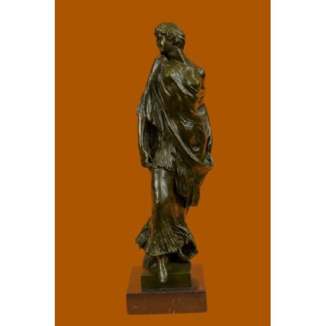 Aldo Vitaleh 1920 Style Model Bronze Sculpture Marble