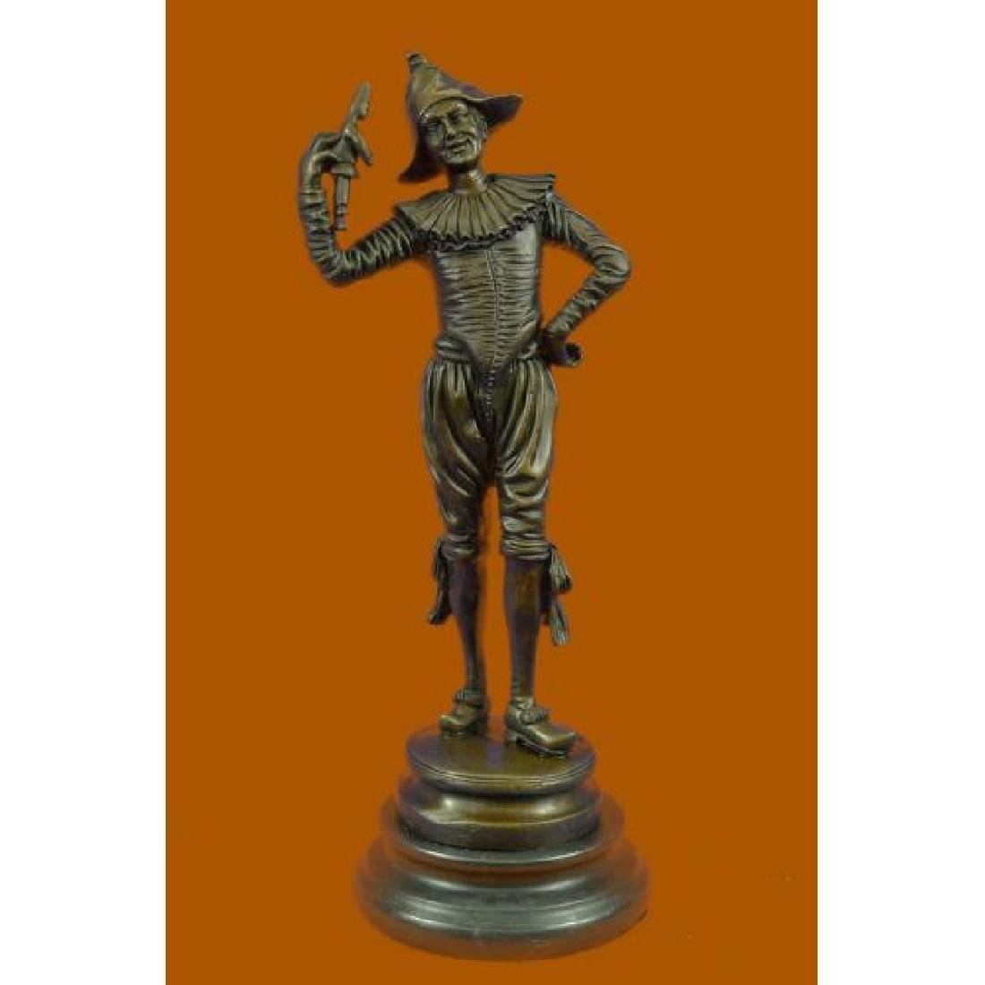 Lively Jester by French Artist Gueyton Bronze Sculpture