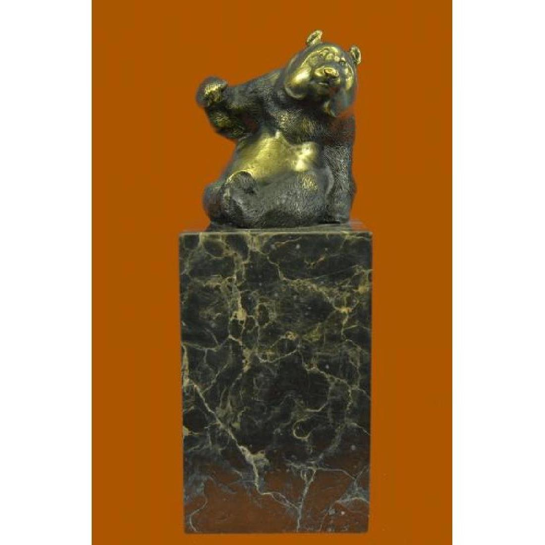 Cute animal bronze sculpture - The Panda - created by