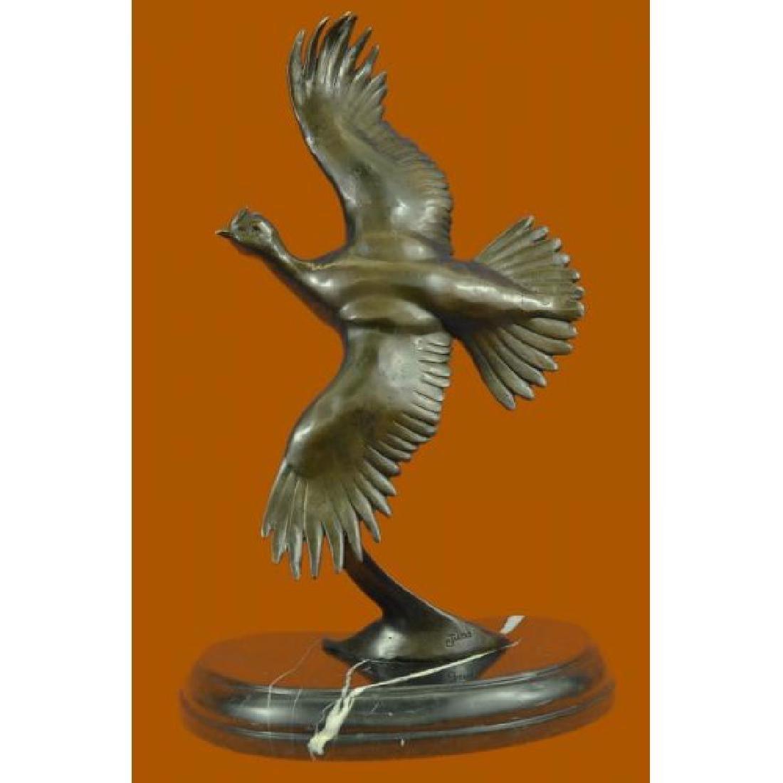 Juno Female California Quail Bronze Sculpture Marble