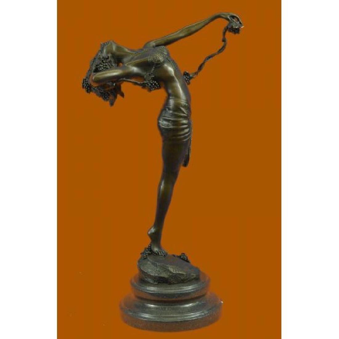 Harriet Frishmuth Nude Beauty Stretching Bronze