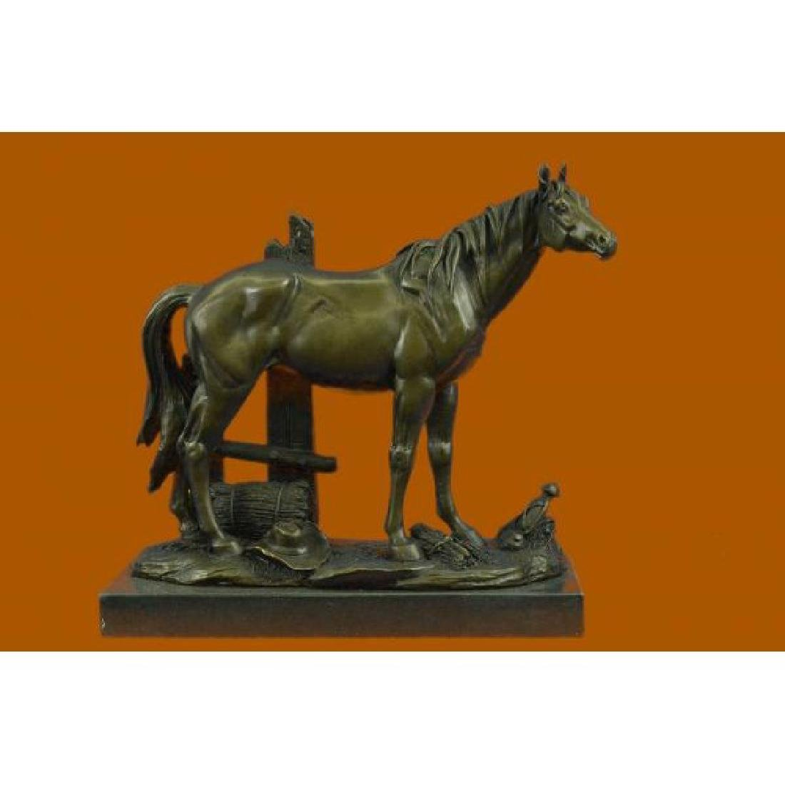 Bronze Sculpture Miguel Lopez Hot Cast Stallion Mere