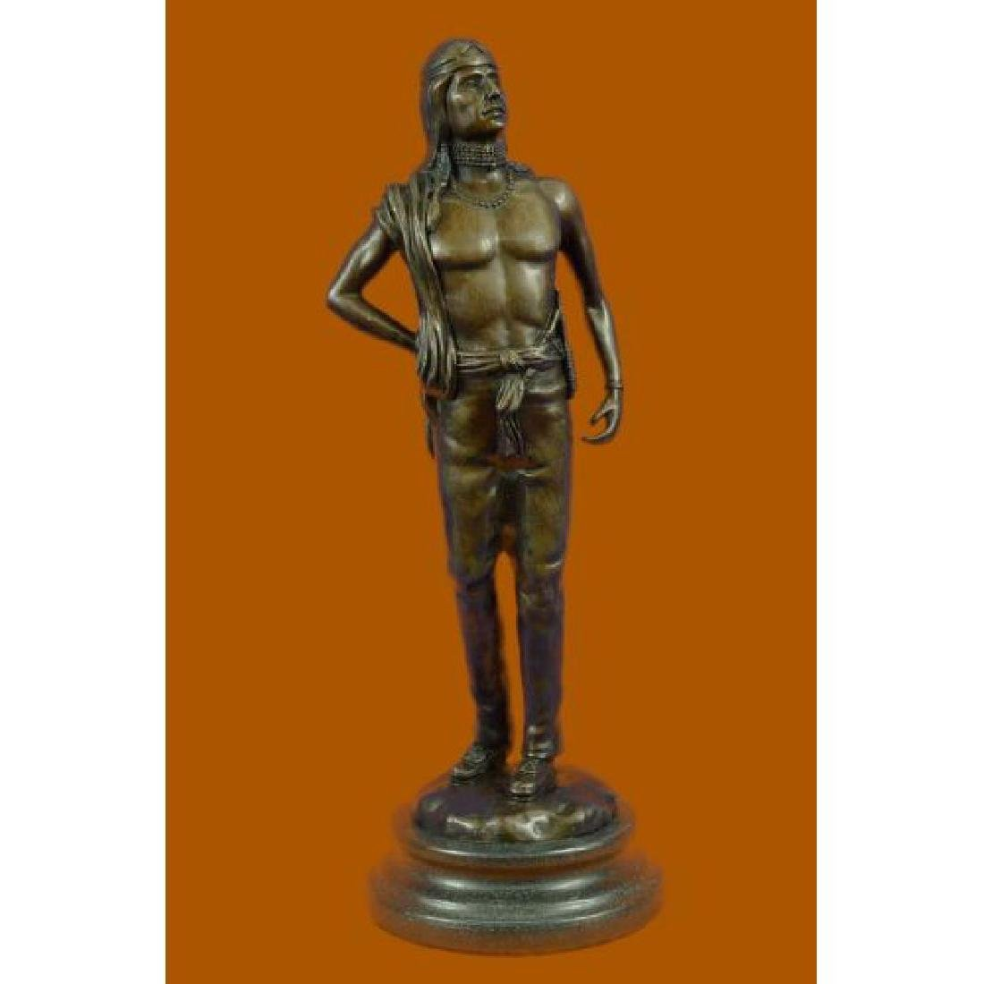 Fritz Berman Native Indian Prince Bronze Sculpture