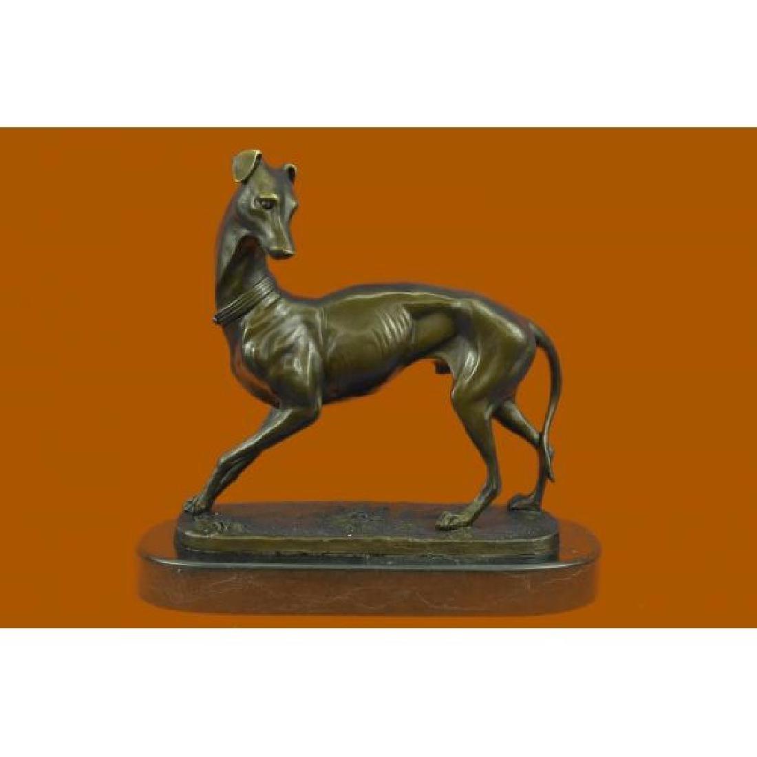 Hot Cast Large Greyhound Dog Pet Lover Bronze Sculpture