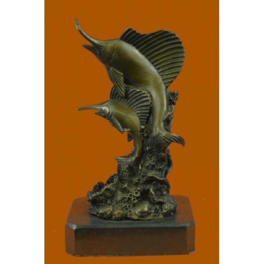Vienna Bronze Hot Cast Two Marlin Bronze Sculpture