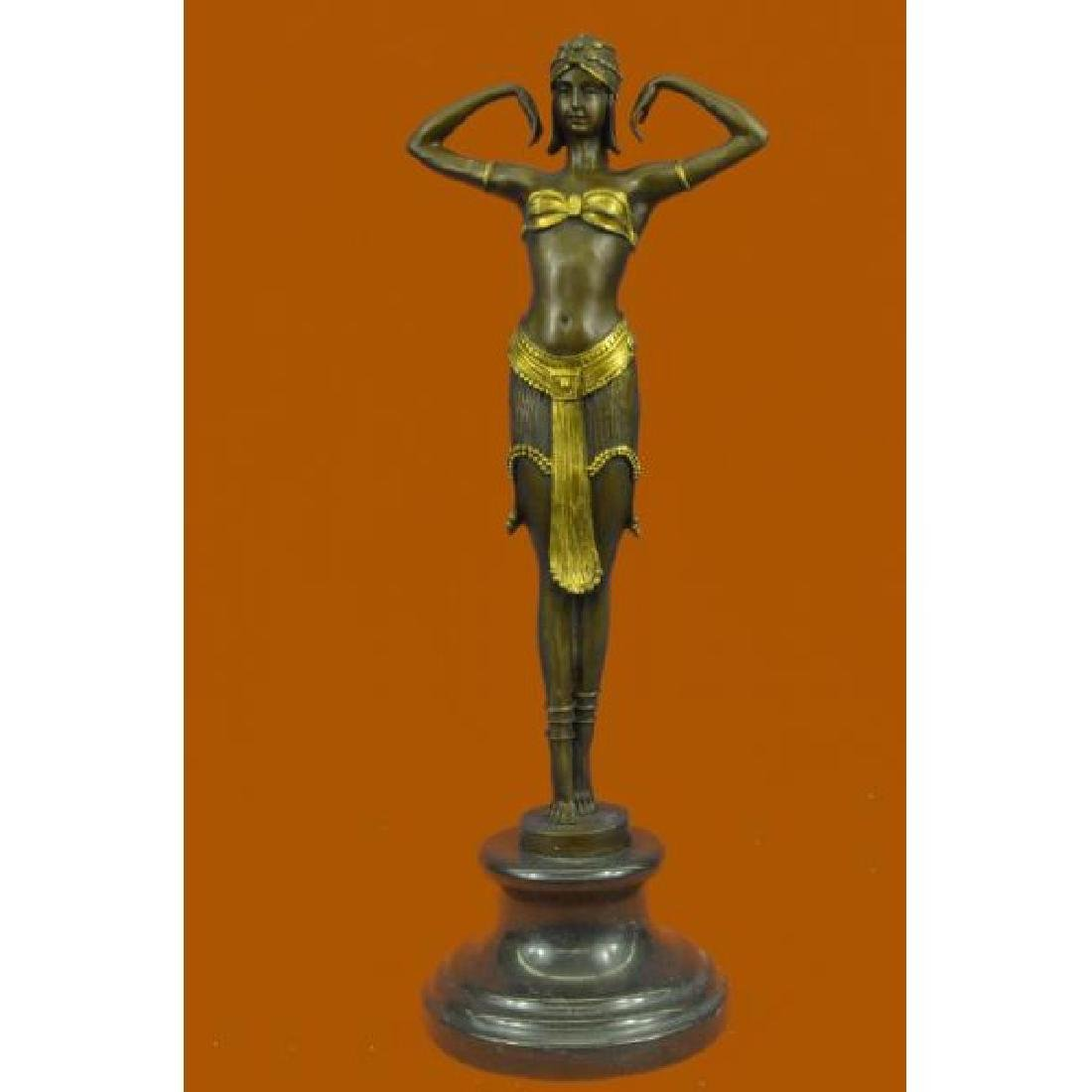 Art Nouveau Collector Collectible Semi Nude Dancer By