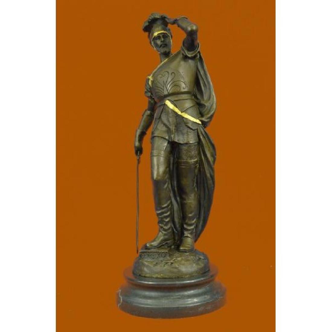Pizarro Roman Legion Soldier Bronze Sculpture Marble