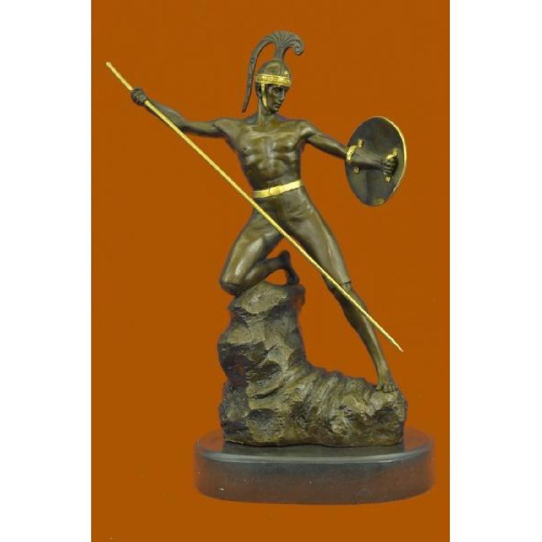 Jensen Handsome Nude Roman Warrior Bronze Sculpture