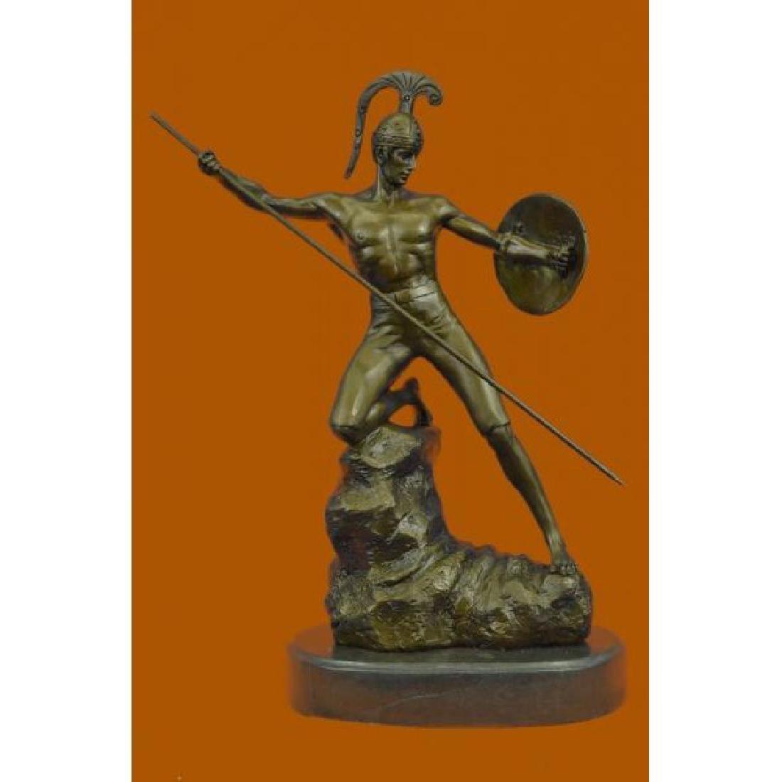 Vintage Neoclassical Greco/Roman Bronze Gladiator Nude