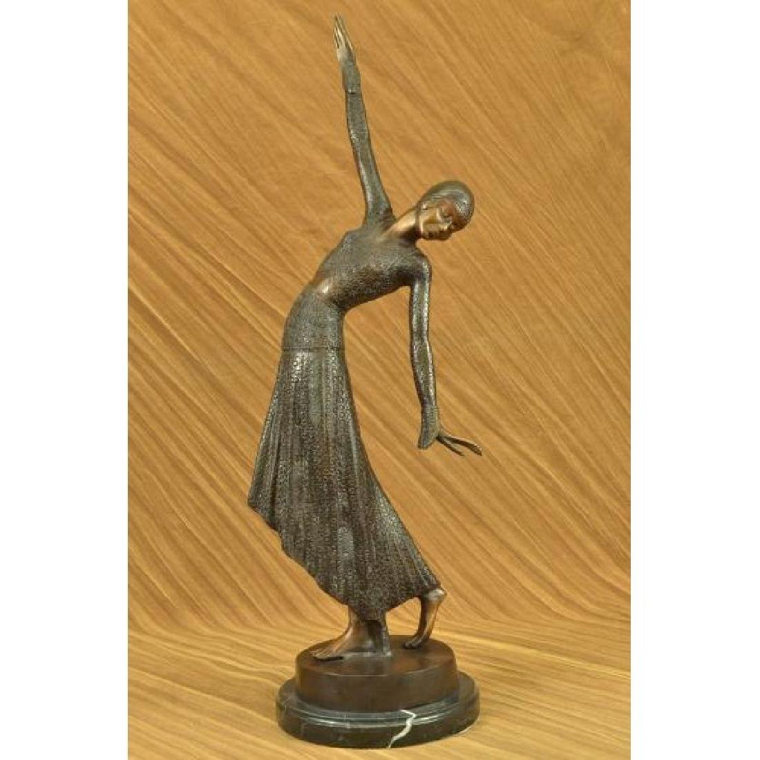 VINTAGE EXOTIC DANCER CHIPARUS BRONZE STATUE ART DECO