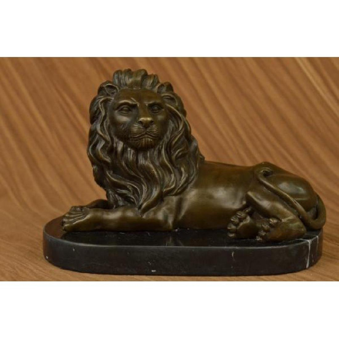 Milo African Lion King of Jungle Bronze Sculpture Hot