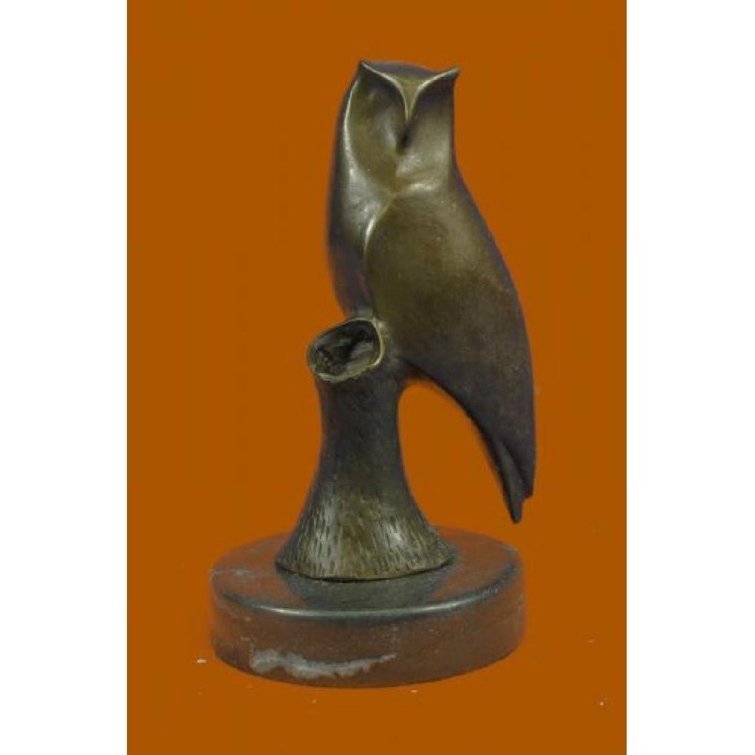 Vienna Bronze Modern Miniature Abstract Owl Bronze