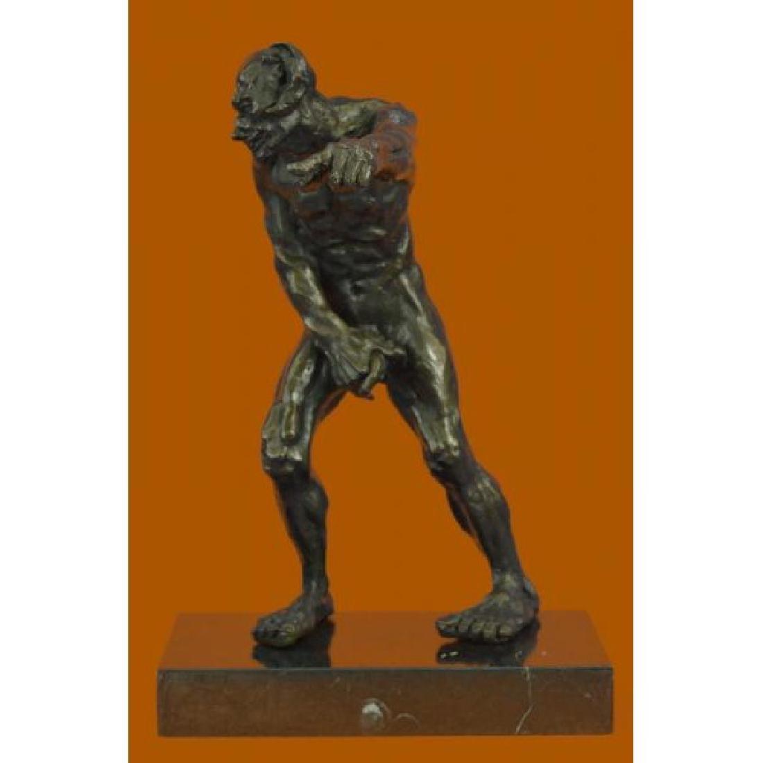 Devil Holding His Phallus Bronze Sculpture Limited