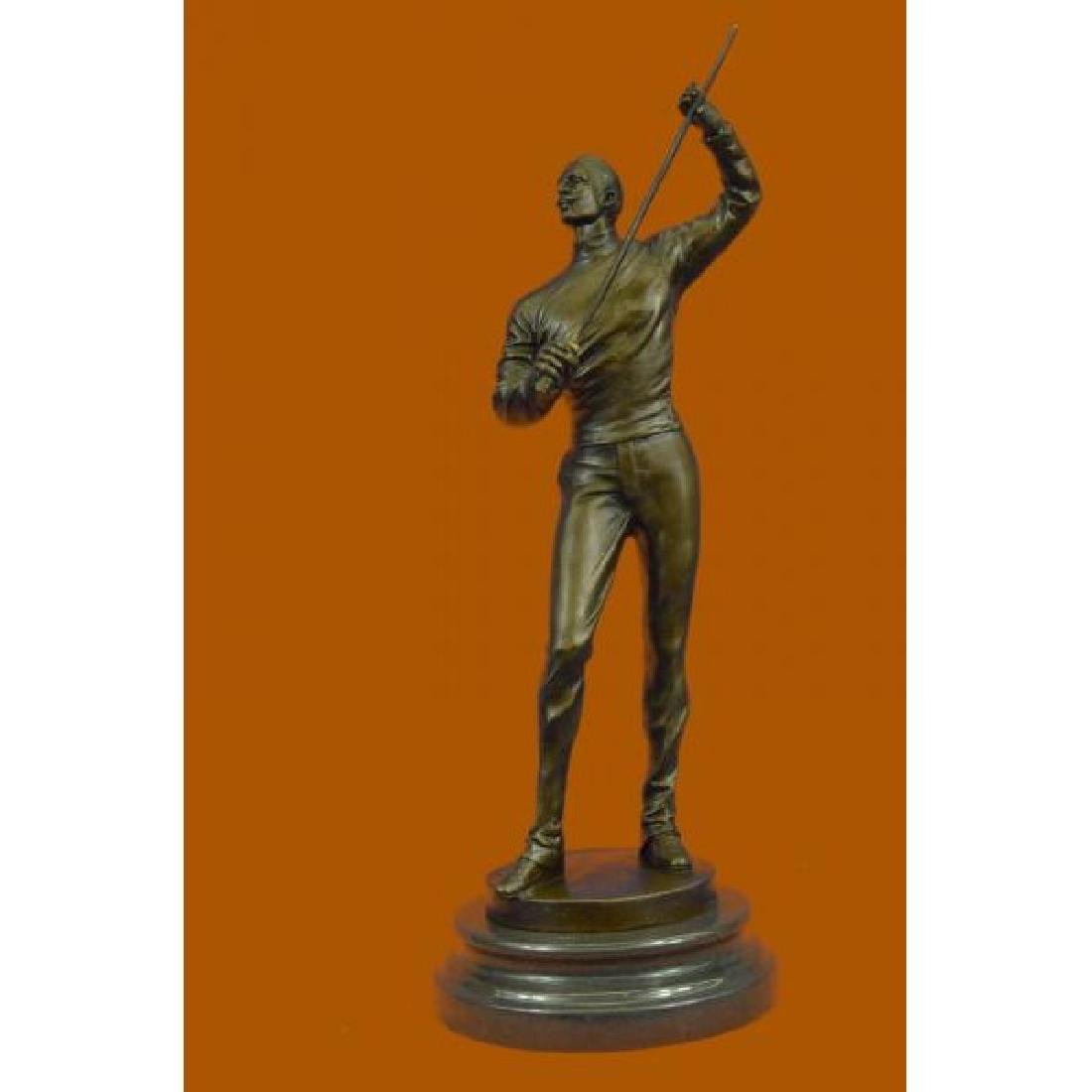 Bronze Figure of a Young Fencer by Benoit Rougelet