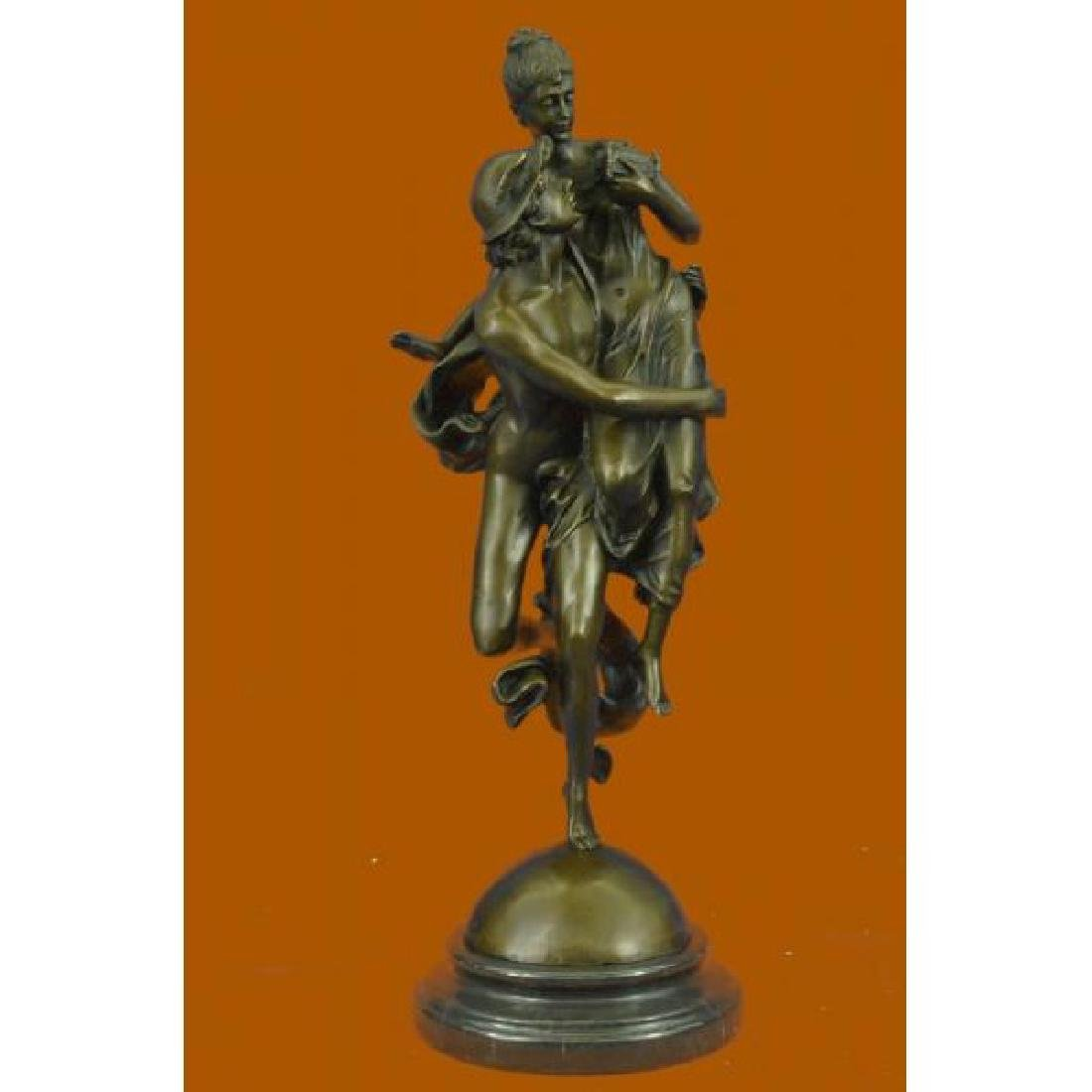 Pandora Box and Flying Mercury Hot Cast Bronze