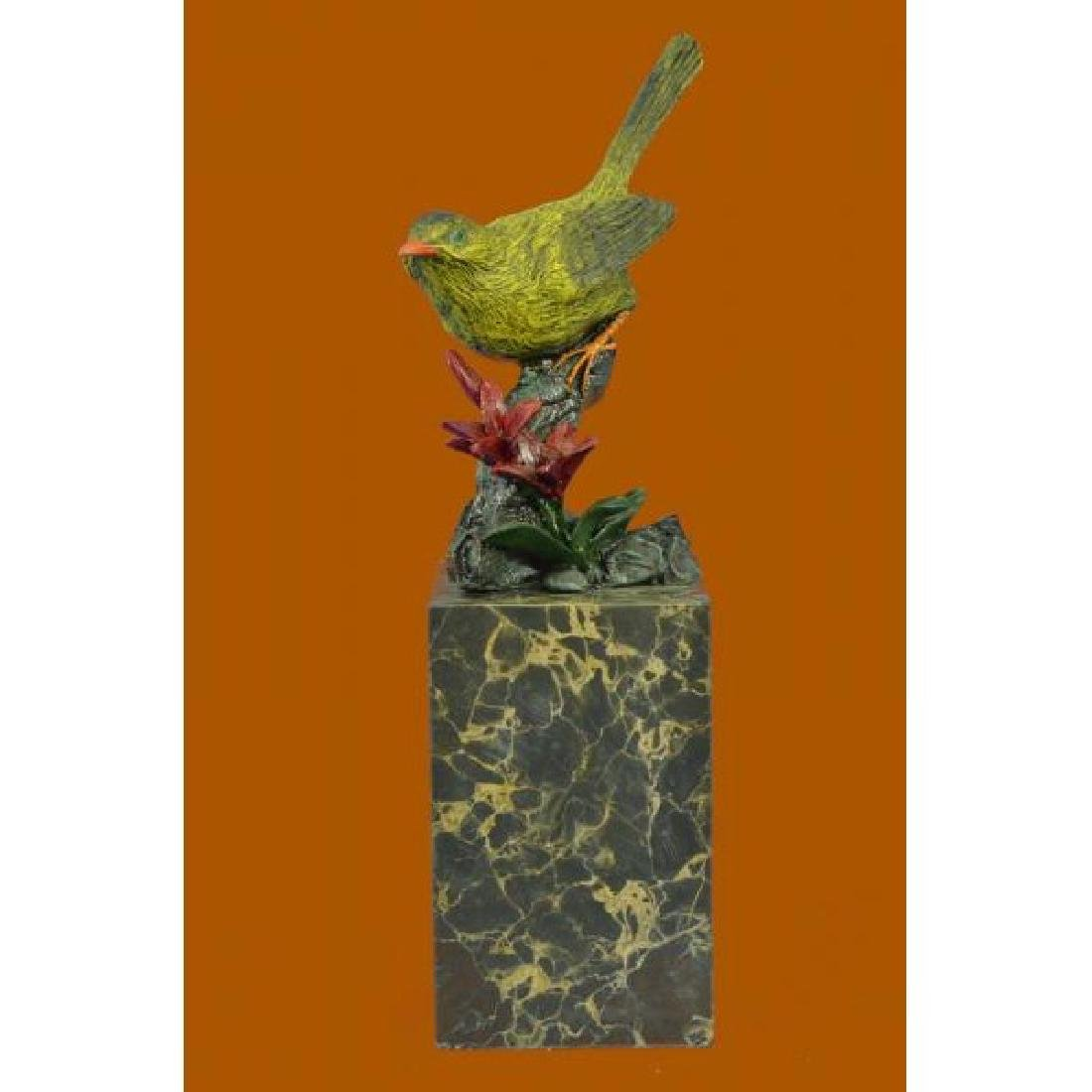 Art Deco Hot Cast Multi Color Patina Love Bird Bronze