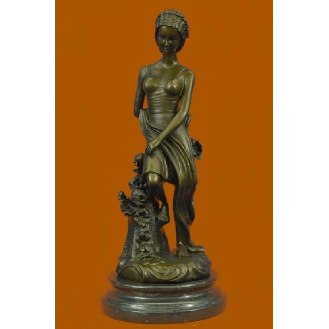 Milo Gorgeous Woman Female Bronze Sculpture Next to
