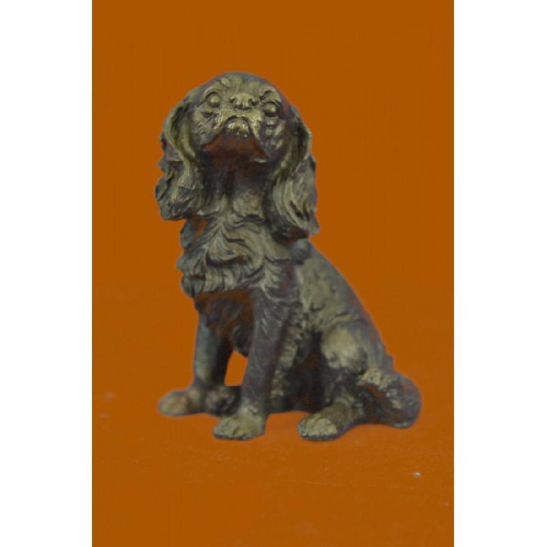 Bronze Sculpture Bookend Book End Animal Pet Dog