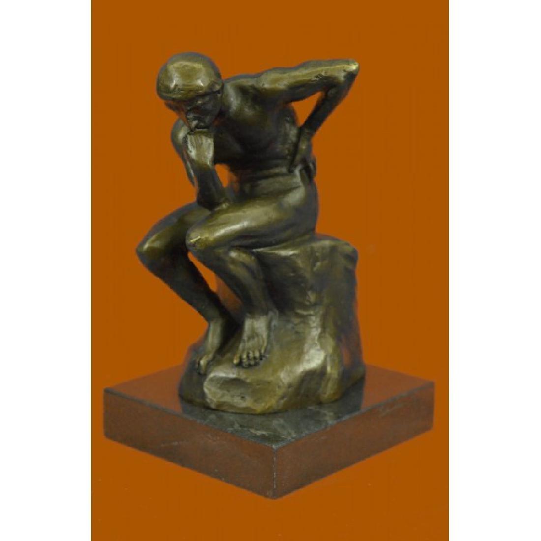 Rodin Thinker Symbol of Philosophy Bronze Sculpture Hot
