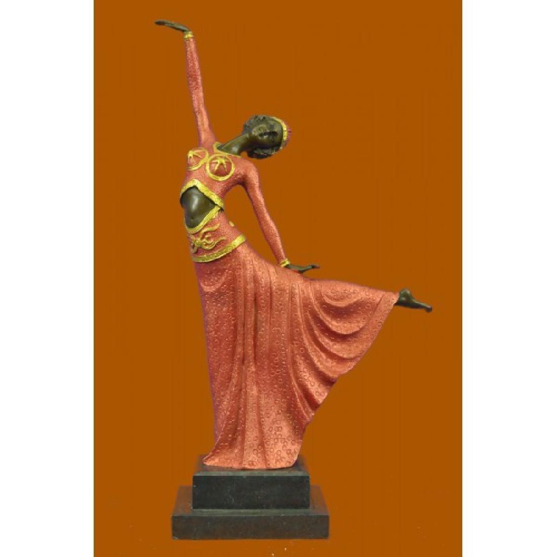 D.H.Chiparus bronze statue, art deco dancer sculpture