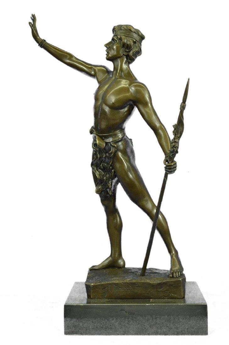 Warrior With Spear Bronze Statue
