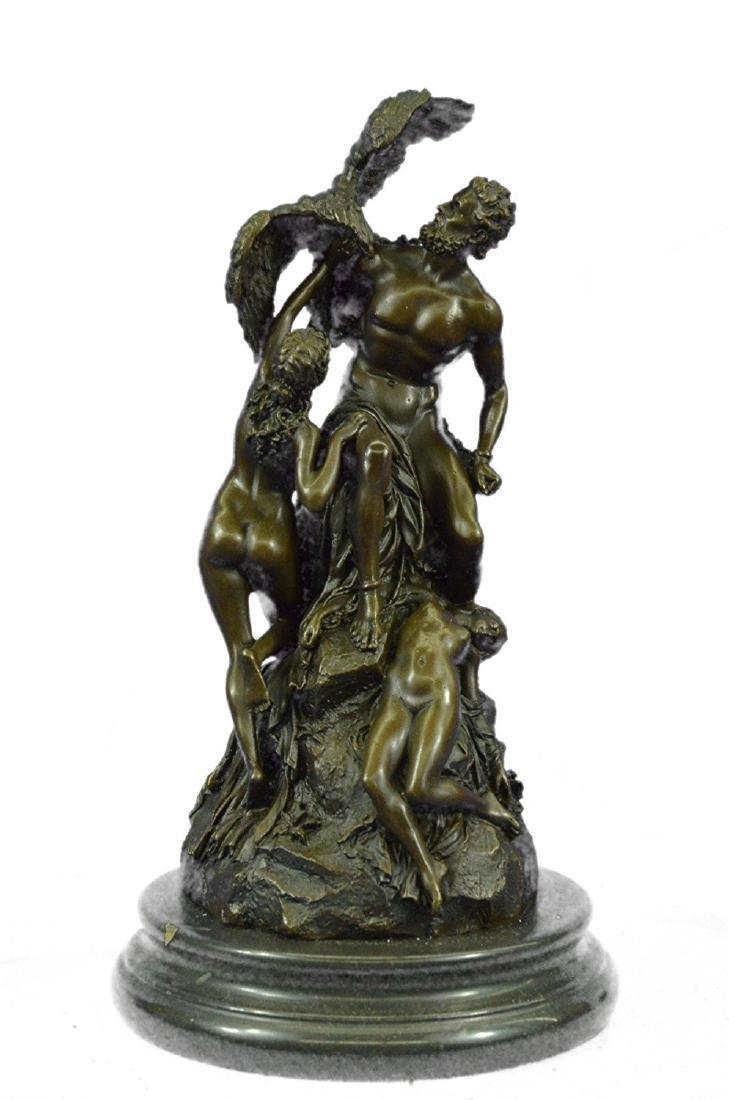 Bologna Zeus With Nymphs Eagle Bronze Sculpture