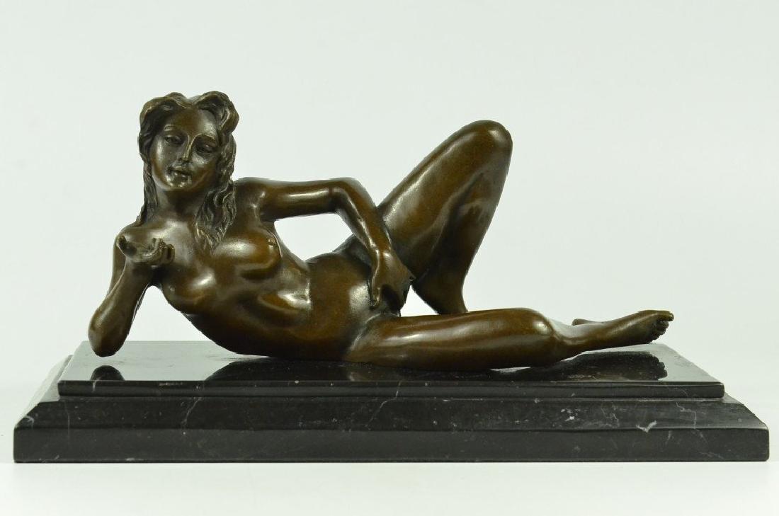 Nude Female Erotic Bronze Sculpture