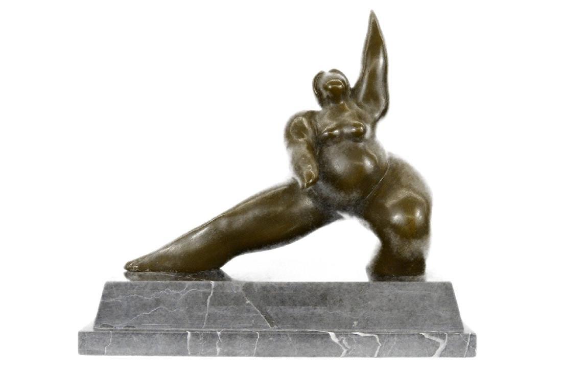 Chubby Woman Bronze Sculpture
