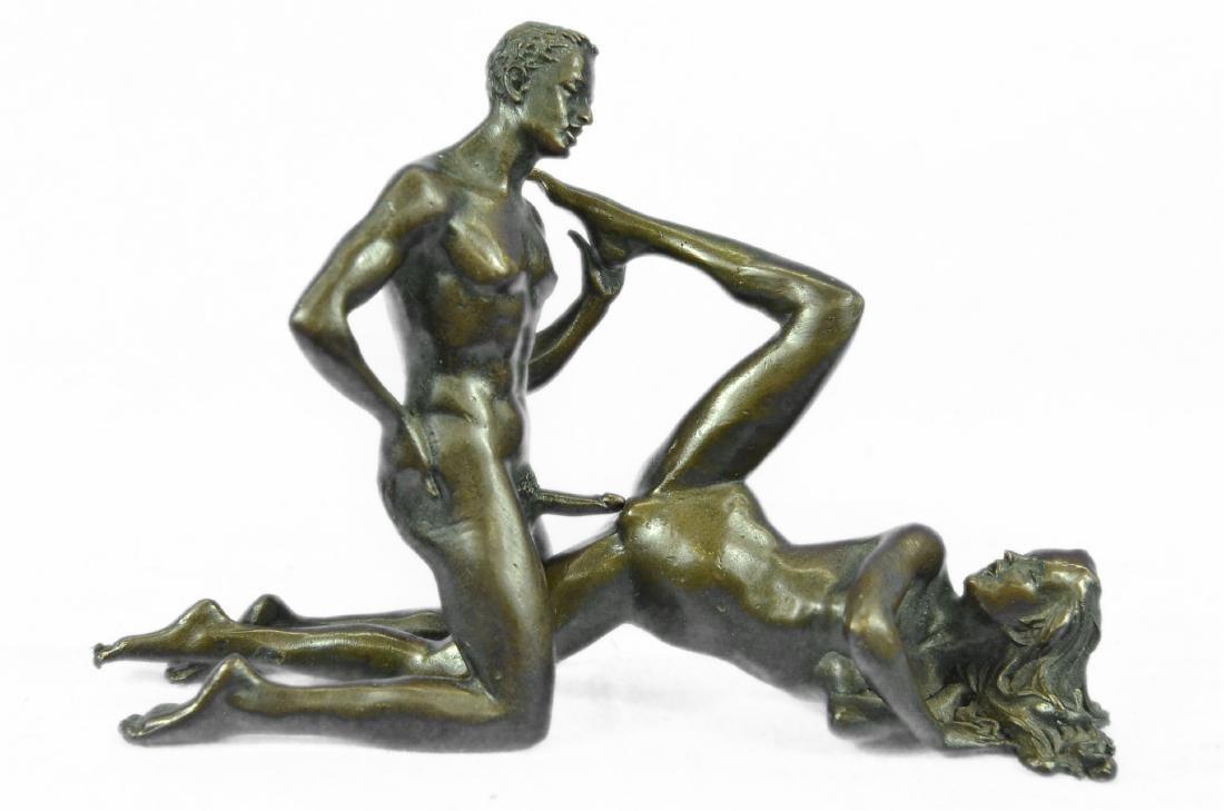 Two Piece Erotic Bronze Sculpture