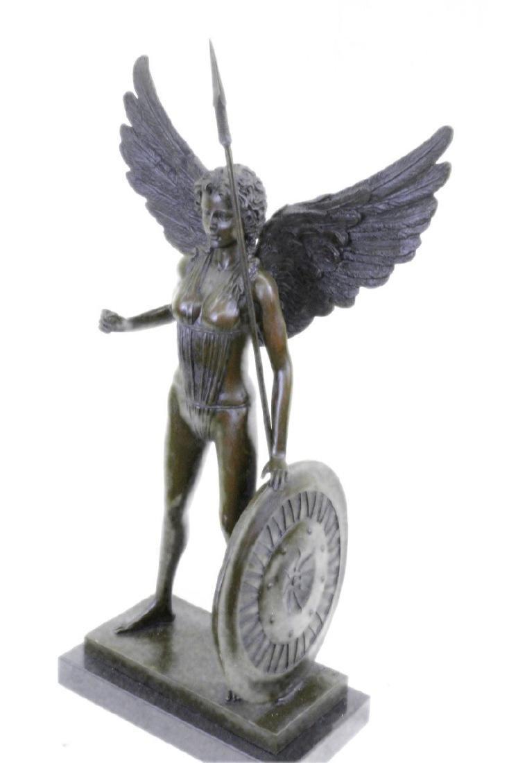 Amazon Bronze Statue on Marble Base Figurine