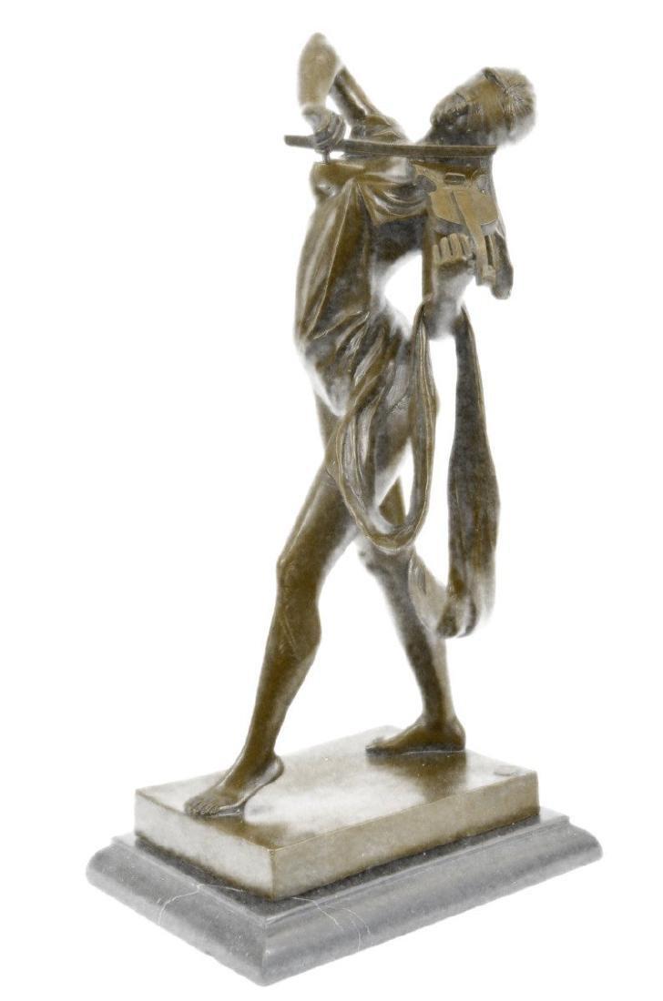 Erotic Nude Blindfold Female Violin Player Bronze