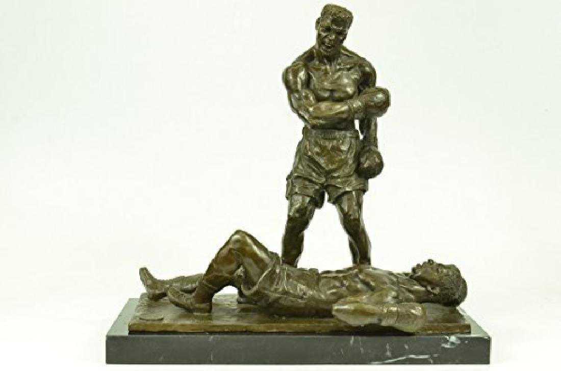 Muhammad Ali and Sonny Boxing Bronze Sculpture